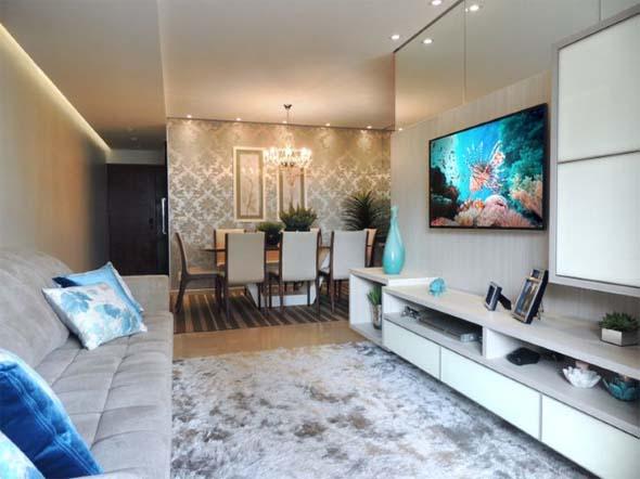 Modelos de sala de jantar e estar integradas na decora o for Sala de estar funcional
