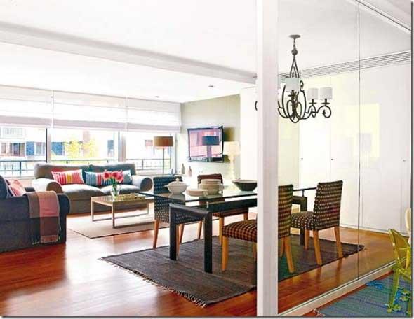 Sala de jantar e estar integradas na decoração 014