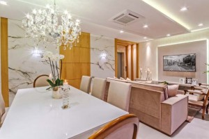Sala de jantar e estar integradas na decoração 017