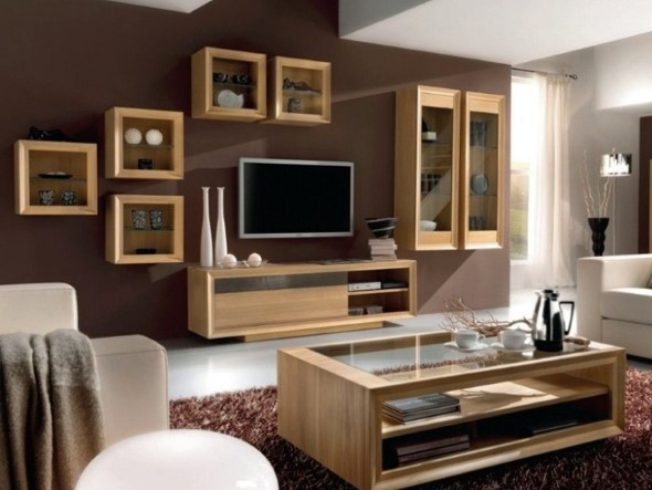 22 modelos de salas de estar modernas e atuais for Modelos de muebles para sala