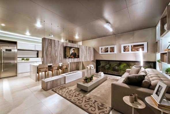 22 modelos de salas de estar modernas e atuais for Interiores de salas modernas