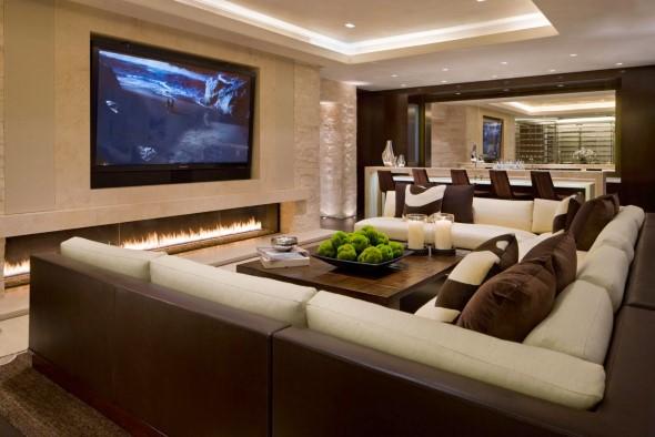 Salas de estar modernas e atuais 011