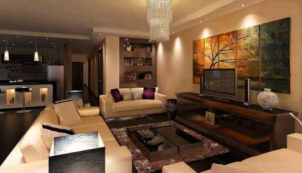 Salas de estar modernas e atuais 021