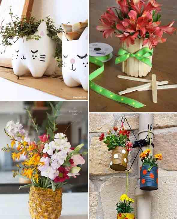 Vasinhos de flores e plantas para enfeitar a casa 021