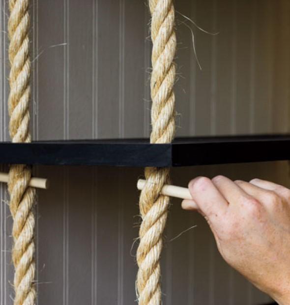 prateleira suspensa com cordas 012