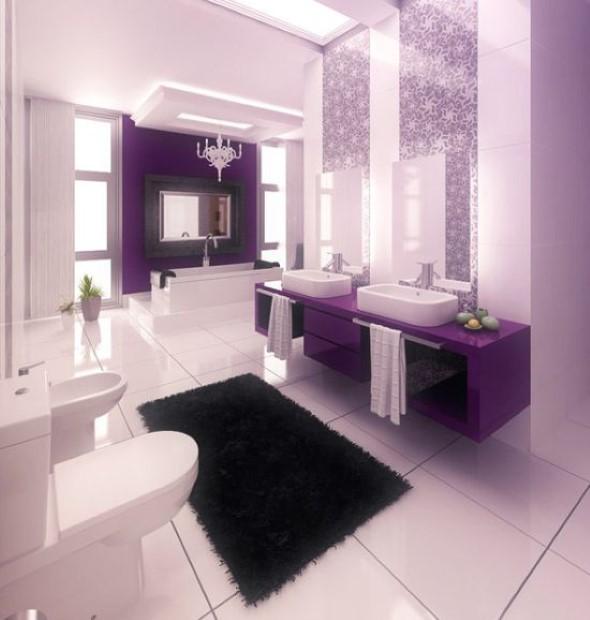 Banheiro de casal charmoso na decoração 003