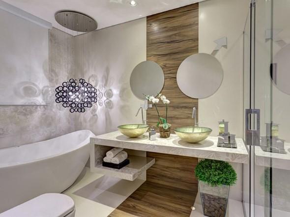 Banheiro de casal charmoso na decoração 005