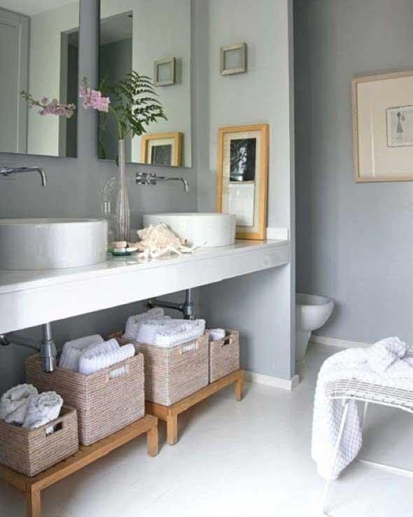 Banheiro de casal charmoso na decoração 016
