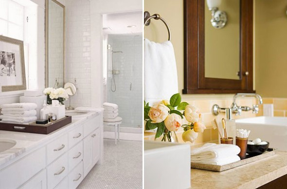 Banheiro de casal charmoso na decoração 017