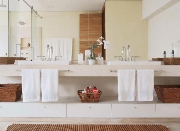 Banheiro de casal charmoso na decoração 018