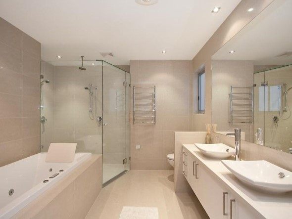 Banheiro de casal charmoso na decoração 020