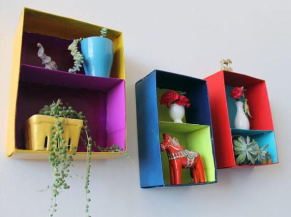 DIY - Caixas de papelão na decoração 001