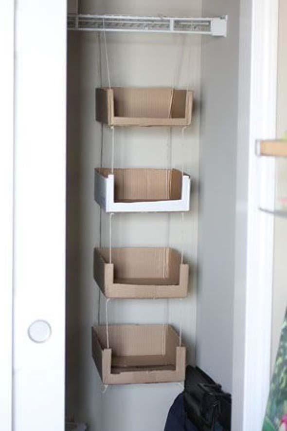 DIY - Caixas de papelão na decoração 009