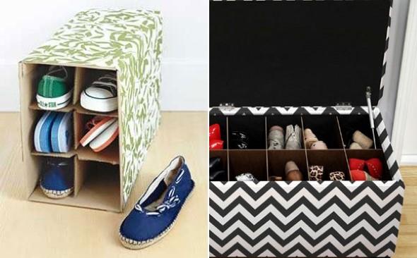 DIY - Caixas de papelão na decoração 011