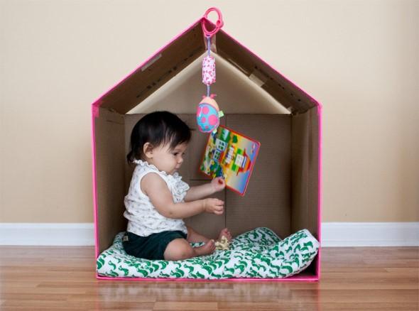 DIY - Caixas de papelão na decoração 012