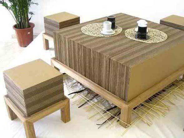 DIY - Caixas de papelão na decoração 018