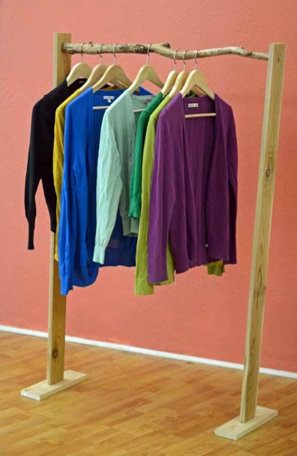 DIY - Como montar uma arara de roupas 002