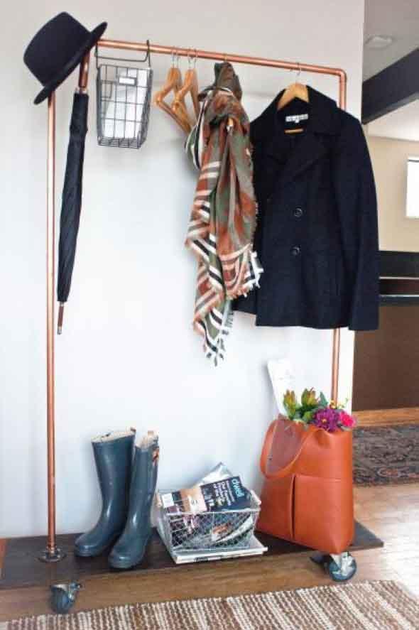 DIY - Como montar uma arara de roupas 008