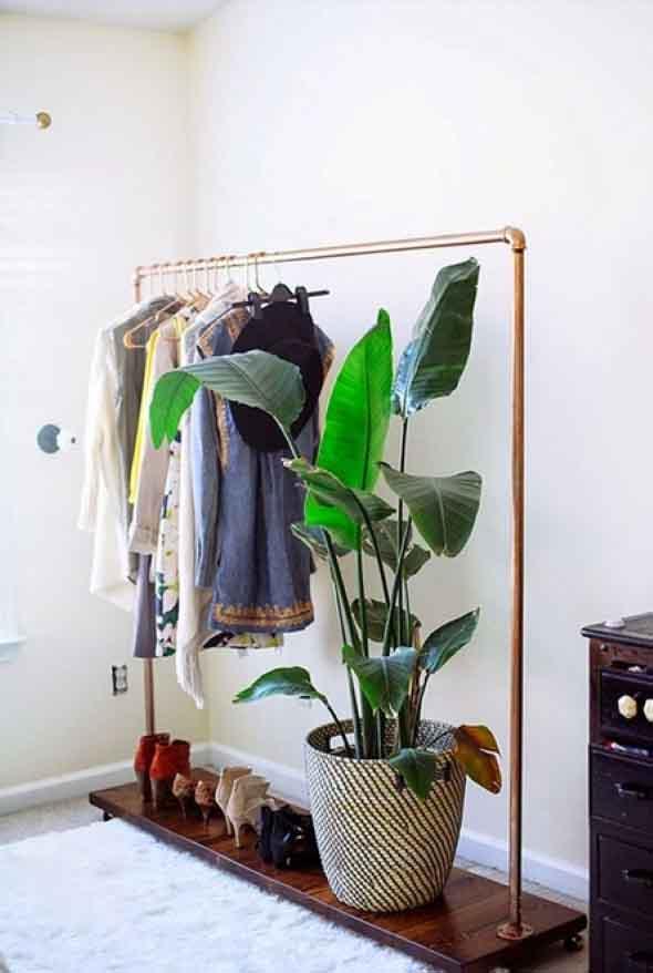 DIY - Como montar uma arara de roupas 010