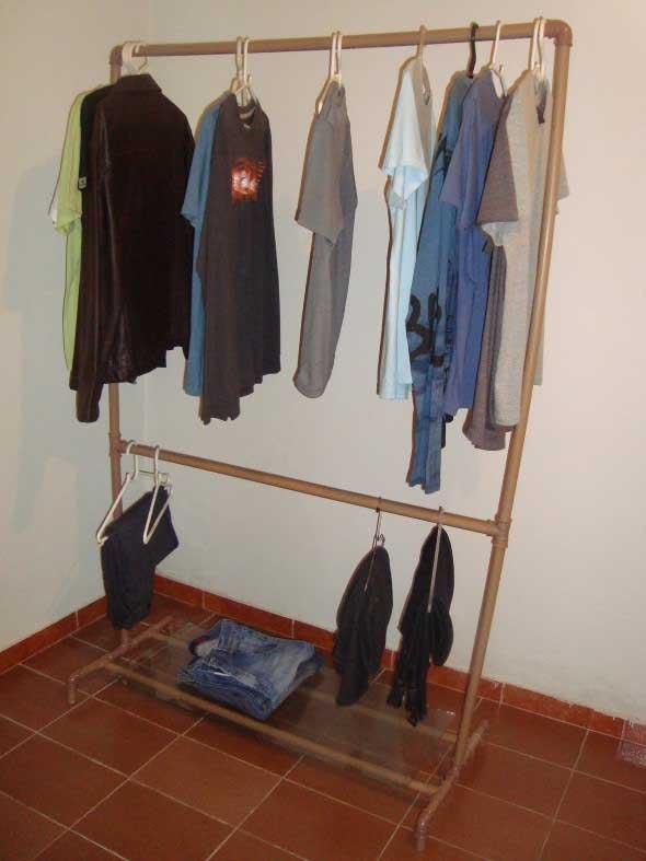 DIY - Como montar uma arara de roupas 014