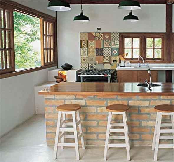 Decoração de cozinhas rústicas 004