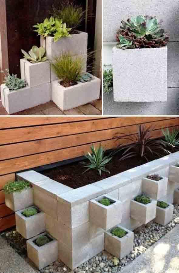 Ideias de decoração com blocos de concreto 002