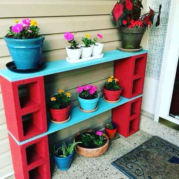 Ideias de decoração com blocos de concreto 005