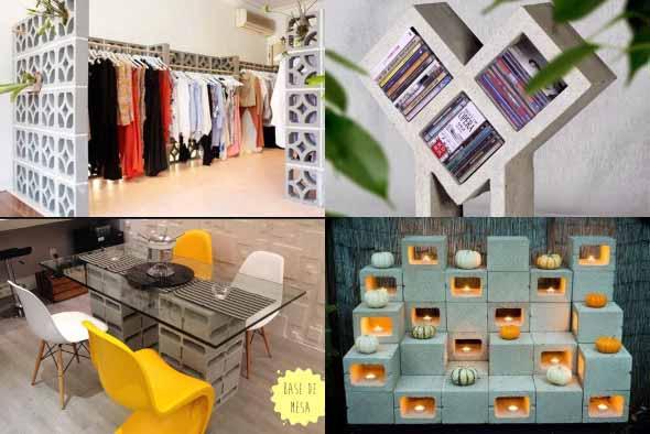 Ideias de decoração com blocos de concreto 006