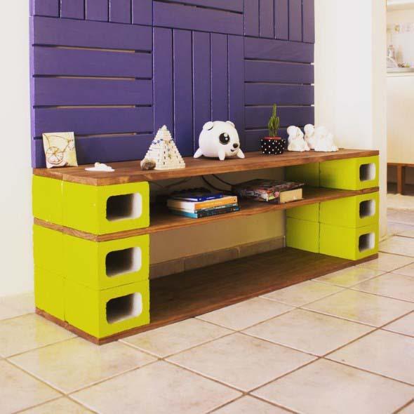 Ideias de decoração com blocos de concreto 012