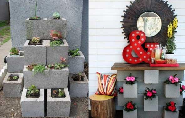 Ideias de decoração com blocos de concreto 022
