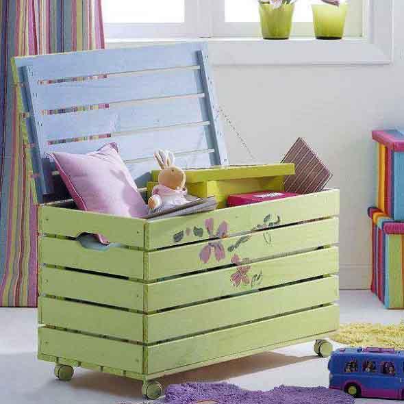 Projetos para crianças com paletes de madeira 001