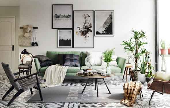 verde na decoração 026