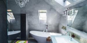 Ambientes decorados com cimento queimado 015
