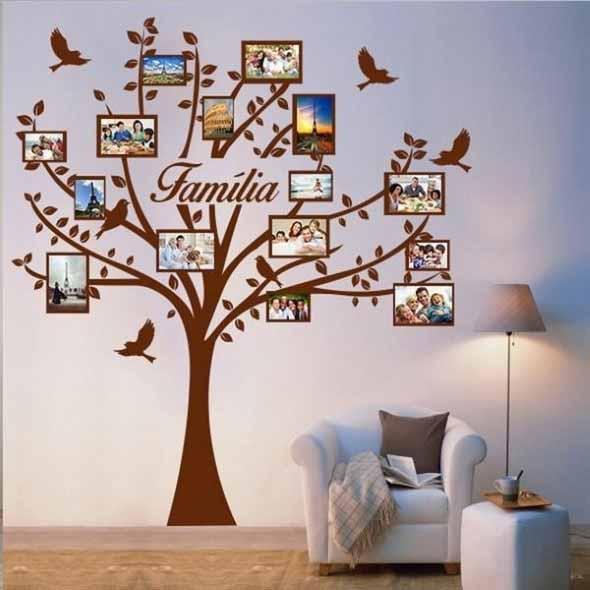 Decore as paredes com fotos de família 001