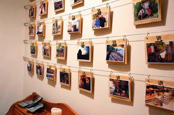 Decore as paredes com fotos de família 002