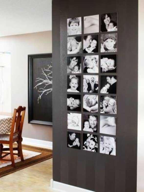 Decore as paredes com fotos de família 003