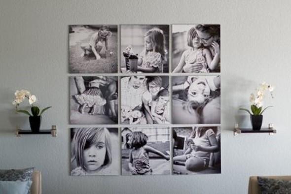 Decore as paredes com fotos de família 004