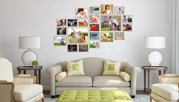 Decore as paredes com fotos de família 005