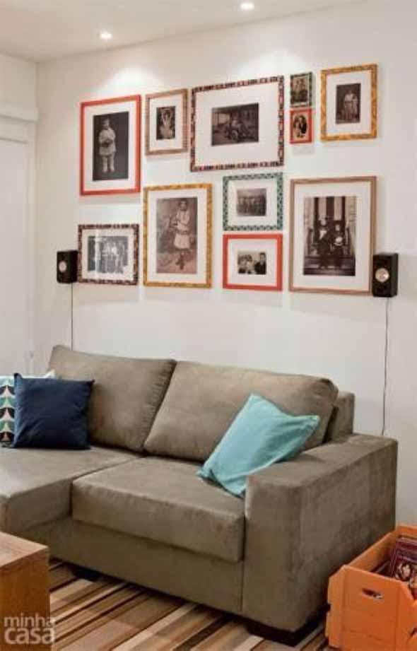 Decore as paredes com fotos de família 006