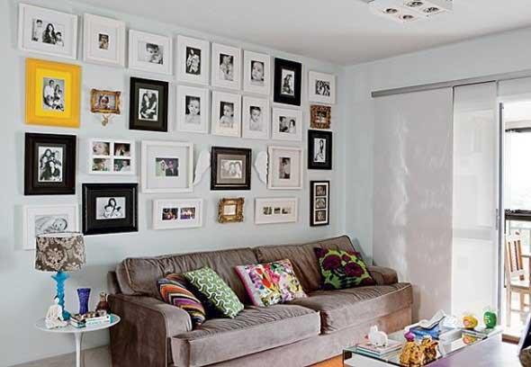 Decore as paredes com fotos de família 008