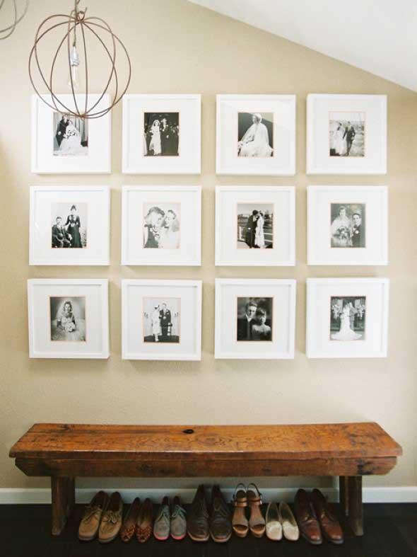 Decore as paredes com fotos de família 009