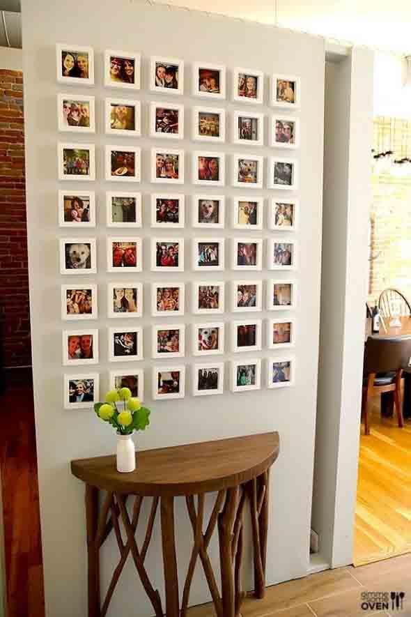 Decore as paredes com fotos de família 010