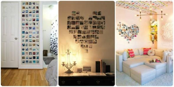 Decore as paredes com fotos de família 011