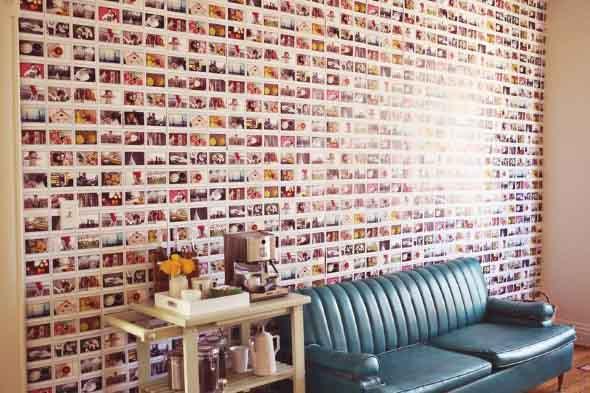 Decore as paredes com fotos de família 012