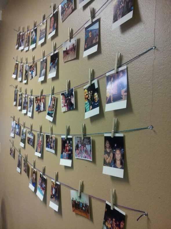 Decore as paredes com fotos de família 013