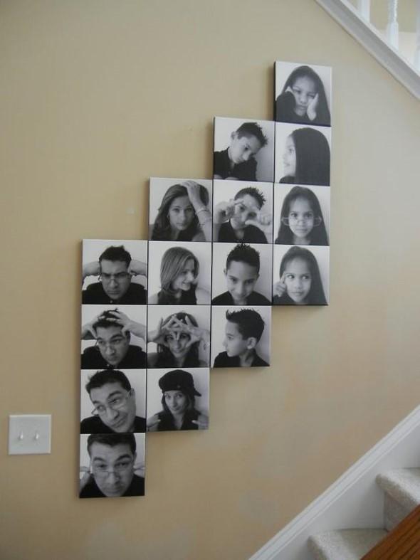 Decore as paredes com fotos de família 014