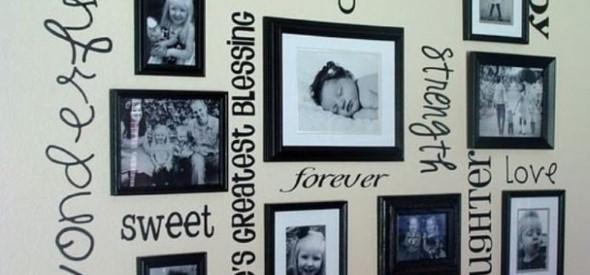 Decore as paredes com fotos de família 015