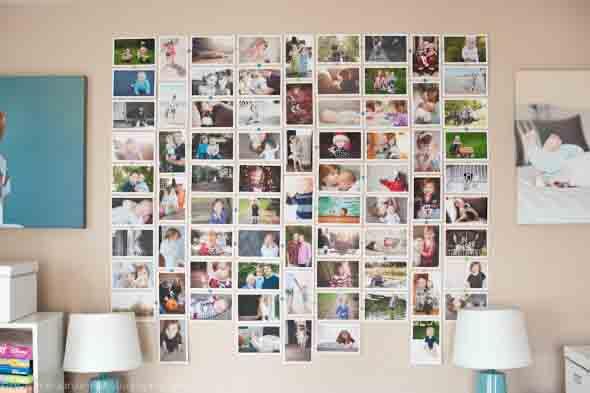 Decore as paredes com fotos de família 017
