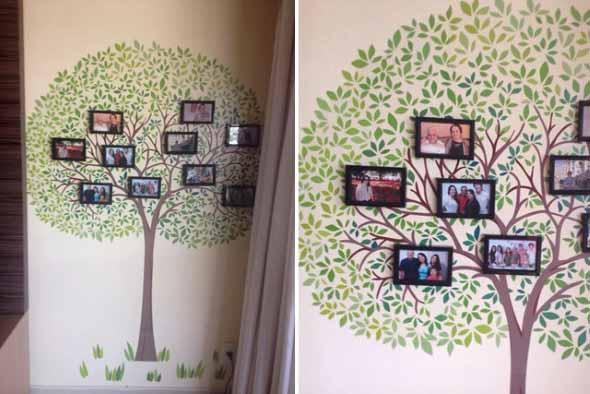 Decore as paredes com fotos de família 018