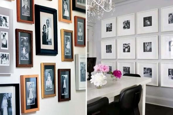 Decore as paredes com fotos de família 019